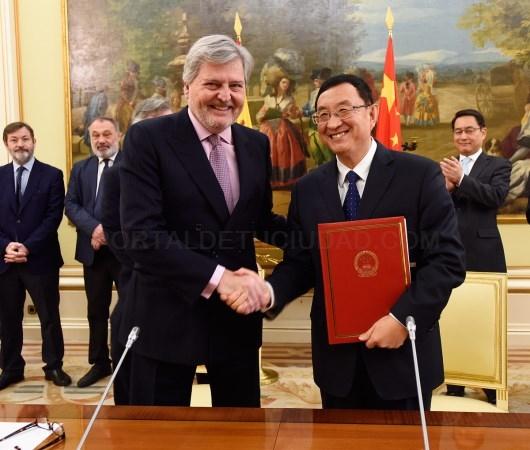 ESPAñA Y CHINA FIRMAN UN AMPLIO ACUERDO DE COOPERACIóN CULTURAL HASTA 2021