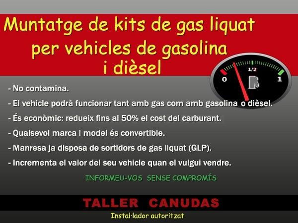 kit gas licuado diesel coche manresa, instalar gas liquat vehicle gasolina manresa
