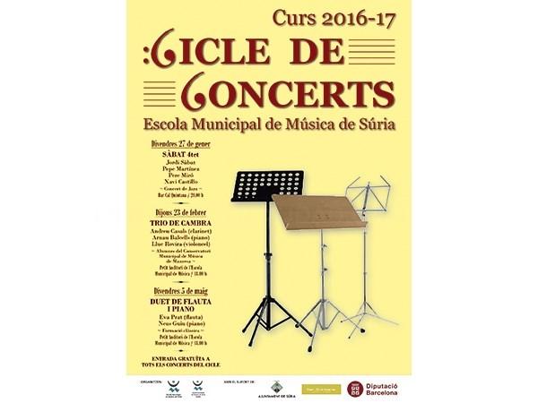 Nueva edición del ciclo de conciertos de la Escuela de Música de Súria