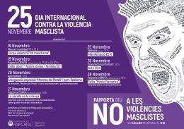 TEATRO, TALLERES, EXPOSICIONES Y CHARLAS PARA CELEBRAR EL 25N, DíA INTERNACIONAL CONTRA LA VIOLENCIA MACHISTA, EN PAIPORTA