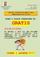 Jugar a Pilota Valenciana és: Gratis en Alcàsser