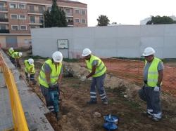 Se inician las obras para la construcción de una nueva aula-taller en el Centro de Formación Municipal Les Palmeres de Picassent