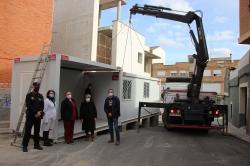 El Ayuntamiento de Picassent instala dos módulos para la realización de pruebas PCR+ en la calle Virgen del Carmen