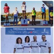 Las nadadoras picassentinas Carolina Pradas y Eugenia Gaona, premiadas este fin de semana en diferentes pruebas de natación