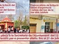 Cláusulas Sociales para los contratos de los bares del Quiosco del Parque y el Hogar de los Jubilados