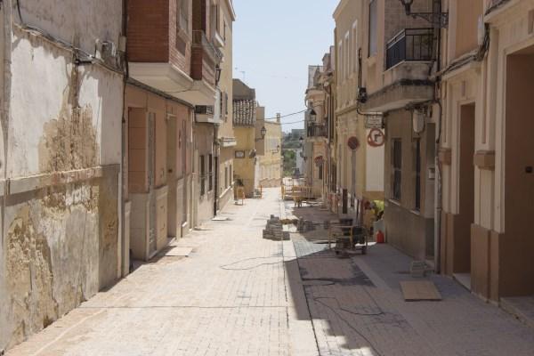 Las obras de la calle de la Penya encaran su recta final en Picassent