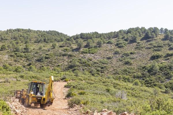 Mejoras en caminos forestales de Picassent por la prevención de incendios