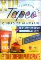 XIII SENDERO DEL TAPEO