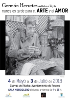 NUNCA ES TARDE PARA EL ARTE Y EL AMOR EXPOSICIÓN DE GERMÁN HERRETES