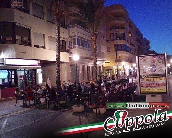Pizzería itaiana en Almoradí