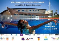El Campeonato de España de Natación sincronizada se celebrará en Torrevieja el 4 y 5 de marzo