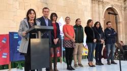 MAS DE 800 ESTUDIANTES SE DAN CITA EN ELCHE PARA PROTESTAR CONTRA LA VIOLENCIA DE GENERO