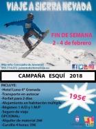 LA CONCEJALIA DE JUVENTUD ABRE EL PLAZO DE INSCRIPCION EN LA CAMPANA DE ESQUI 2018
