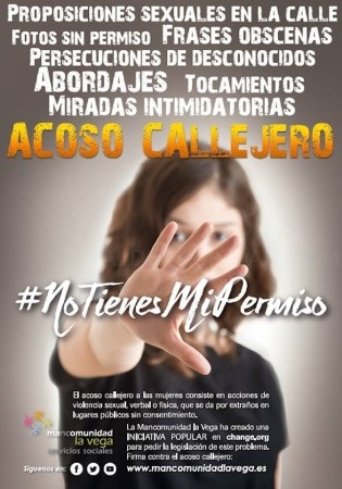 Mancomunidad la Vega lanza una campaña para luchar contra el acoso callejero