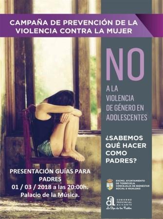 TORREVIEJA PONE EN MARCHA UNA CAMPAÑA DE PREVENCIÓN DE VIOLENCIA CONTRA LA MUJER EN POBLACIÓN ADOLESCENTE