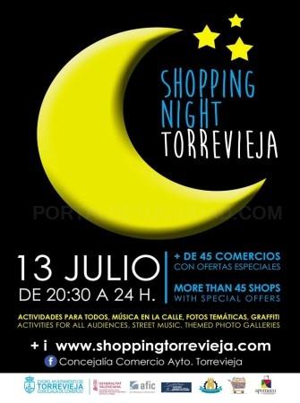 """TORREVIEJA VIVIRÁ UNA """"SHOPPING NIGHT"""" CON GRANDES OFERTAS Y CON ANIMACIÓN EN LA CALLE"""