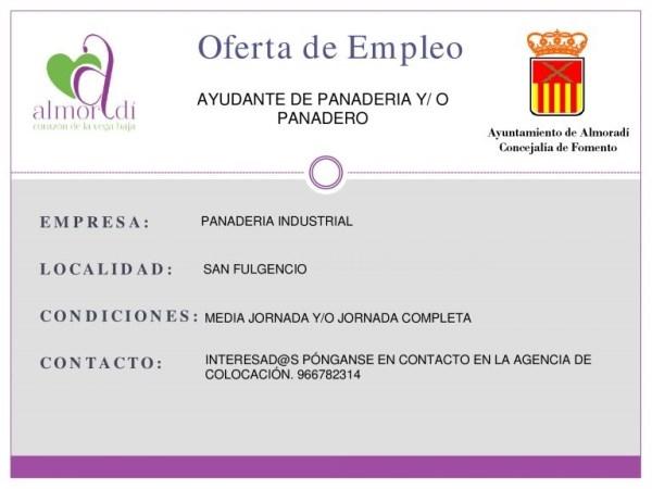 Nueva Oferta de Empleo en Panadería Industrial