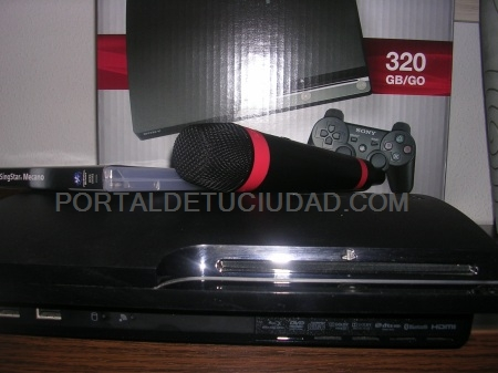 SE VENDE PS3 - SLIM 320 GB + SINGSTAR