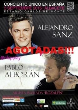 ALEJANDRO SANZ Y PABLO ALBORAN JUNTOS