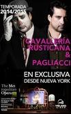Opera Directo: Caballería Rusticana - Payasos - MET LIVE 14-15